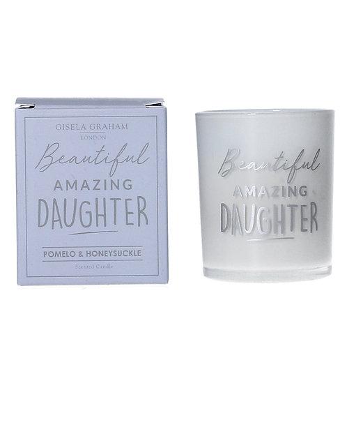 Beautiful Amazing Daugher - Candle