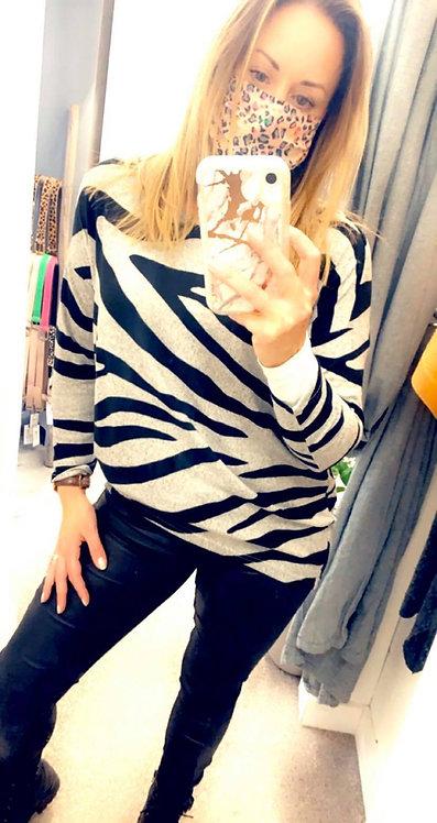 Zebra Knit top