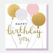 Happy Birthday balloons -pastels