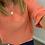 Thumbnail: Scoop neck linen top - orange