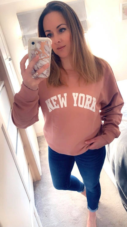 NEW YORK SWEATER- Pink putty.