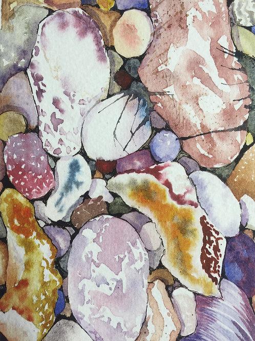 Giclee Print | Pebbles - Jurassic Coast
