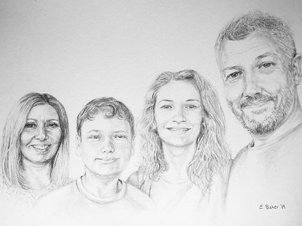 family portrait in pencil