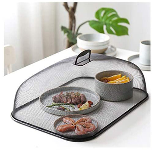 Black Mesh Rectangular Food Cover