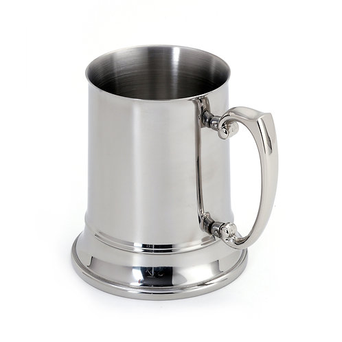 Double-Walled Mirrored Beer Stein