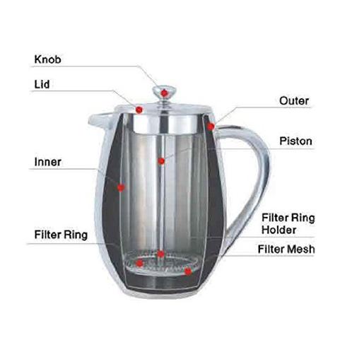 Cafeti re piston double paroi cuisinox professional - Fonctionnement cafetiere a piston ...