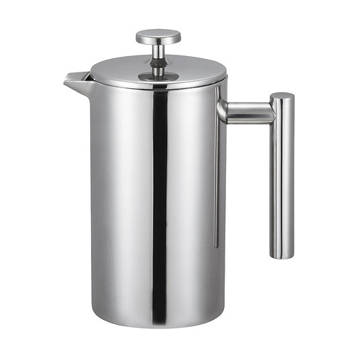 Double Walled Satin Stainless Steel French Press