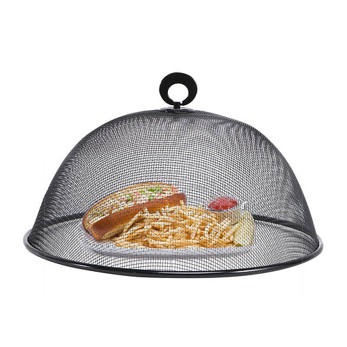 Black Mesh Round Food Cover