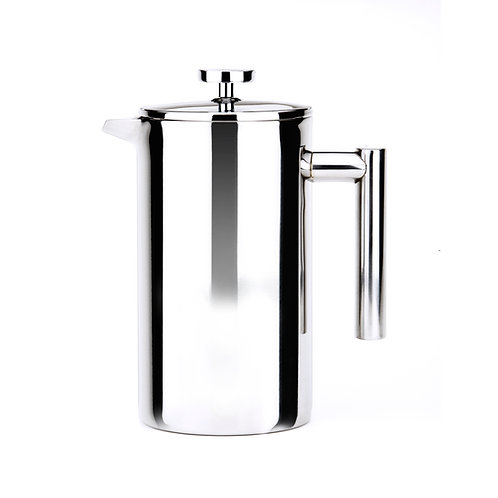 Double Walled Mirror Stainless Steel French Press