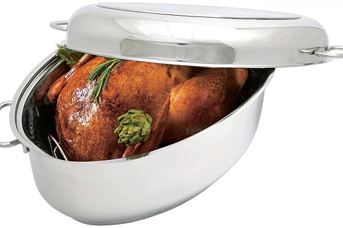 Covered Oval Roaster