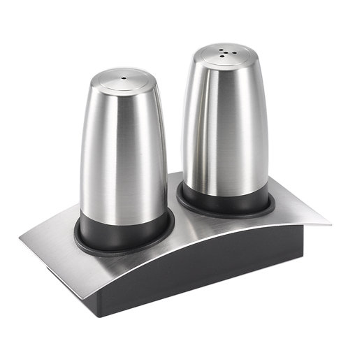 Salt and Pepper Shakers with Caddy