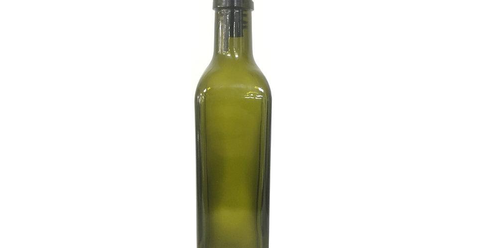 Bouteille verte pour huile ou vinaigre