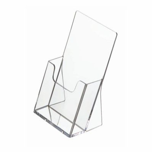 5.5 x 4.4 inch brochure stand in acrylic