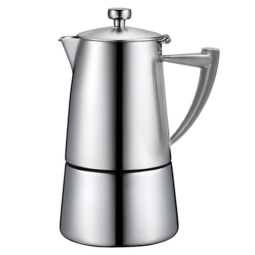 Roma Satin Finish Stainless Steel Espresso Coffeemakers