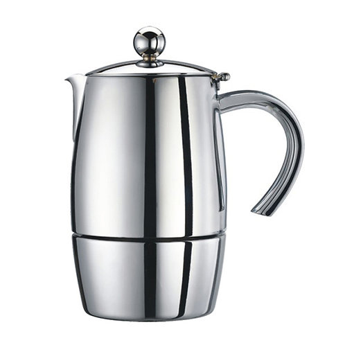 Liberta 3 cup Espresso Maker in Stainless Steel