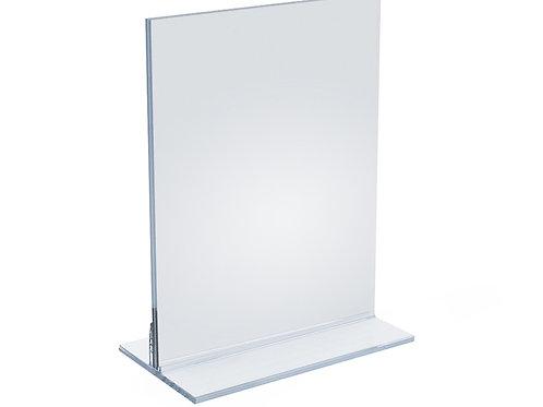 5 x 7 inch shelf talker in acrylic