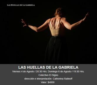 Las huellas de la Gabriela