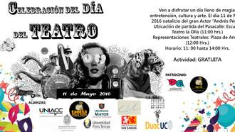 """Pasacalles y 8 muestras teatrales en celebración del """"Día Nacional del Teatro"""""""