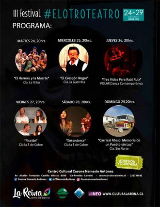Programa III Festival #ElOtroTeatro en La Reina