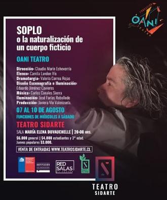 SOPLO: Obra interdisciplinaria de compañía porteña llega a Teatro Sidarte
