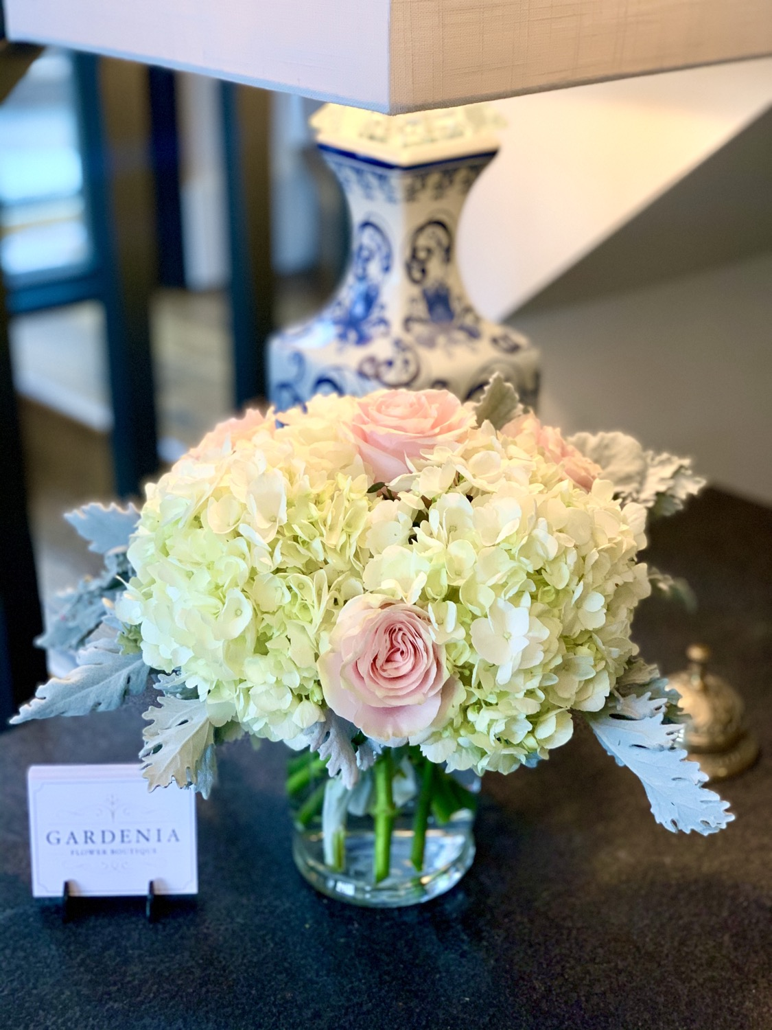 Hydrangea & Rose Arrangement