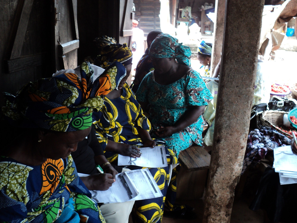 At DIN's financial education for market women programme at Oja Titun Market, Ile Ife, Osun State