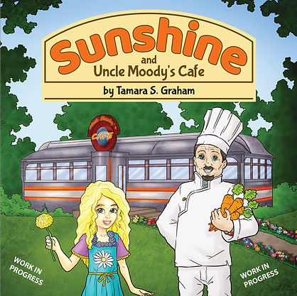 Sunshine and Uncle Moodys Cafe cover WIP