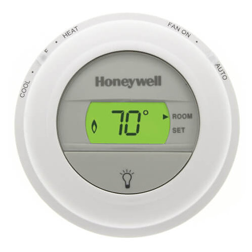 Honeywell T8775C1005 Round Non-Programmable, 1H/1C, Digital Thermostat