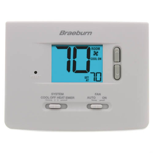 Braeburn 2 Heat/1 Cool Non-Programmable Thermostat - Builder Series