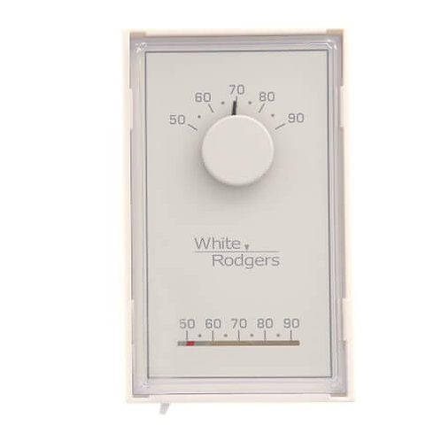White-Rodgers Single Stage Mechanical Thermostat, Vertical, Mercury Free (Heat O