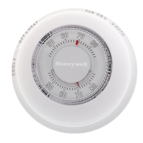 Honeywell T87N1000 Round Non-Programmable, 1H/1C, Mechanical Thermostat