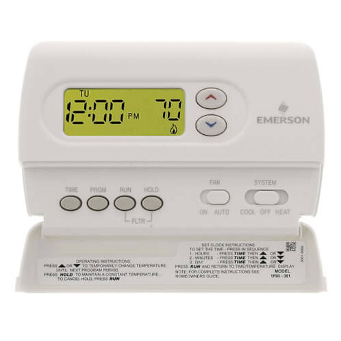 White-Rodgers 80 Series Programmable, 1H/1C, Digital Thermostat