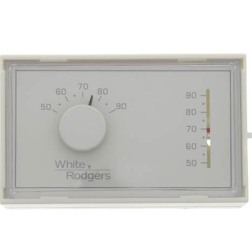 White-Rodgers Non-Programmable, 1H/1C, Mechanical Thermostat w/ 3-Wire Zone Moun