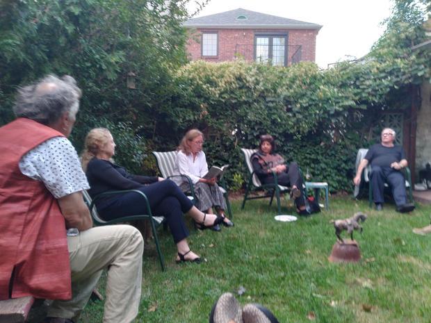 Garden Reading During Pandemic
