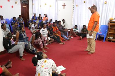 Pastor Timothy teaching