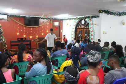 Pastor Roland sharing