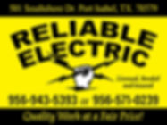 Reliable Electric Contact us for free estimate