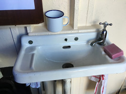 Basin with carbolic soap