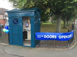 Police box exterior - door open!