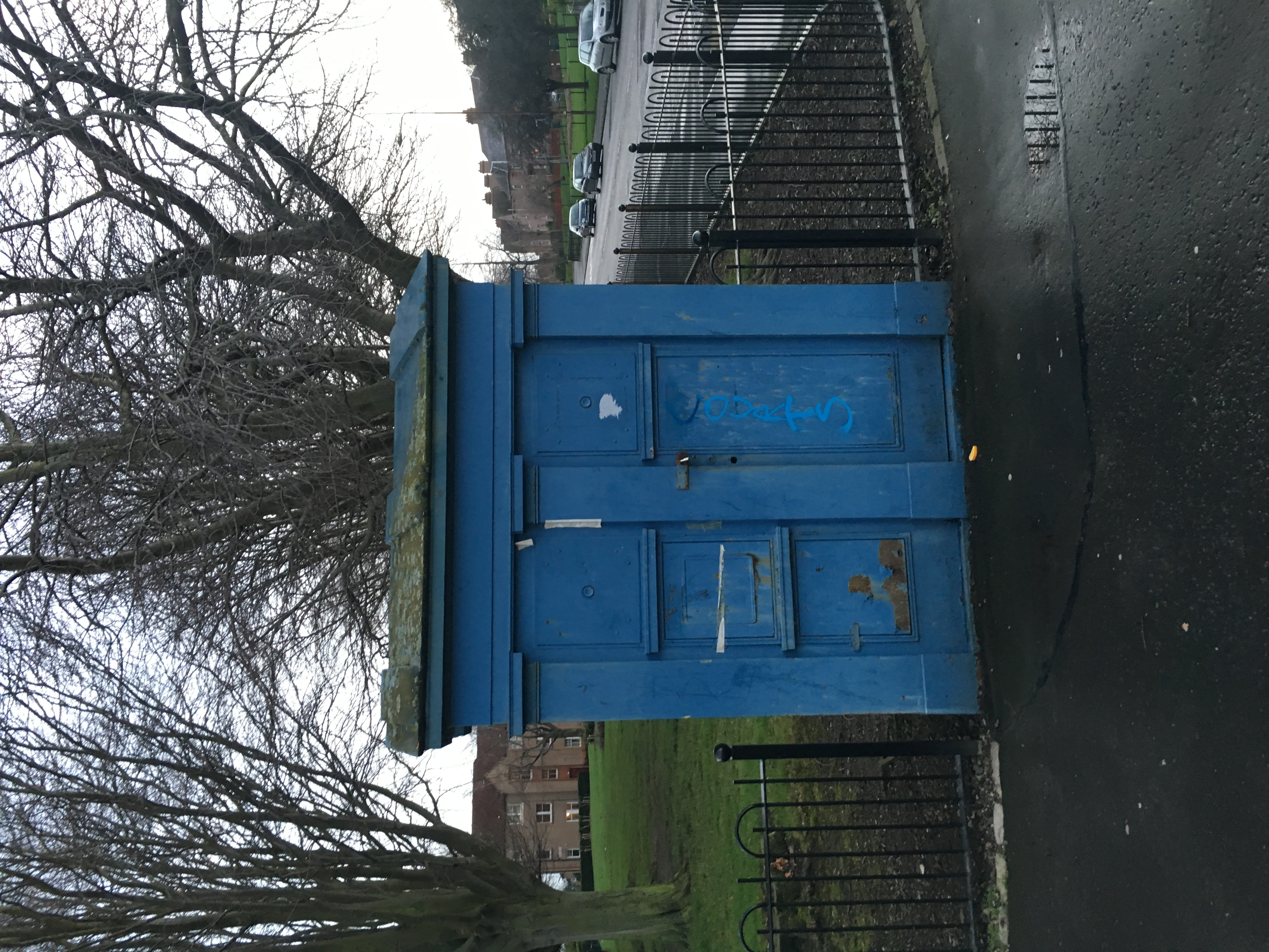 The front of the police box
