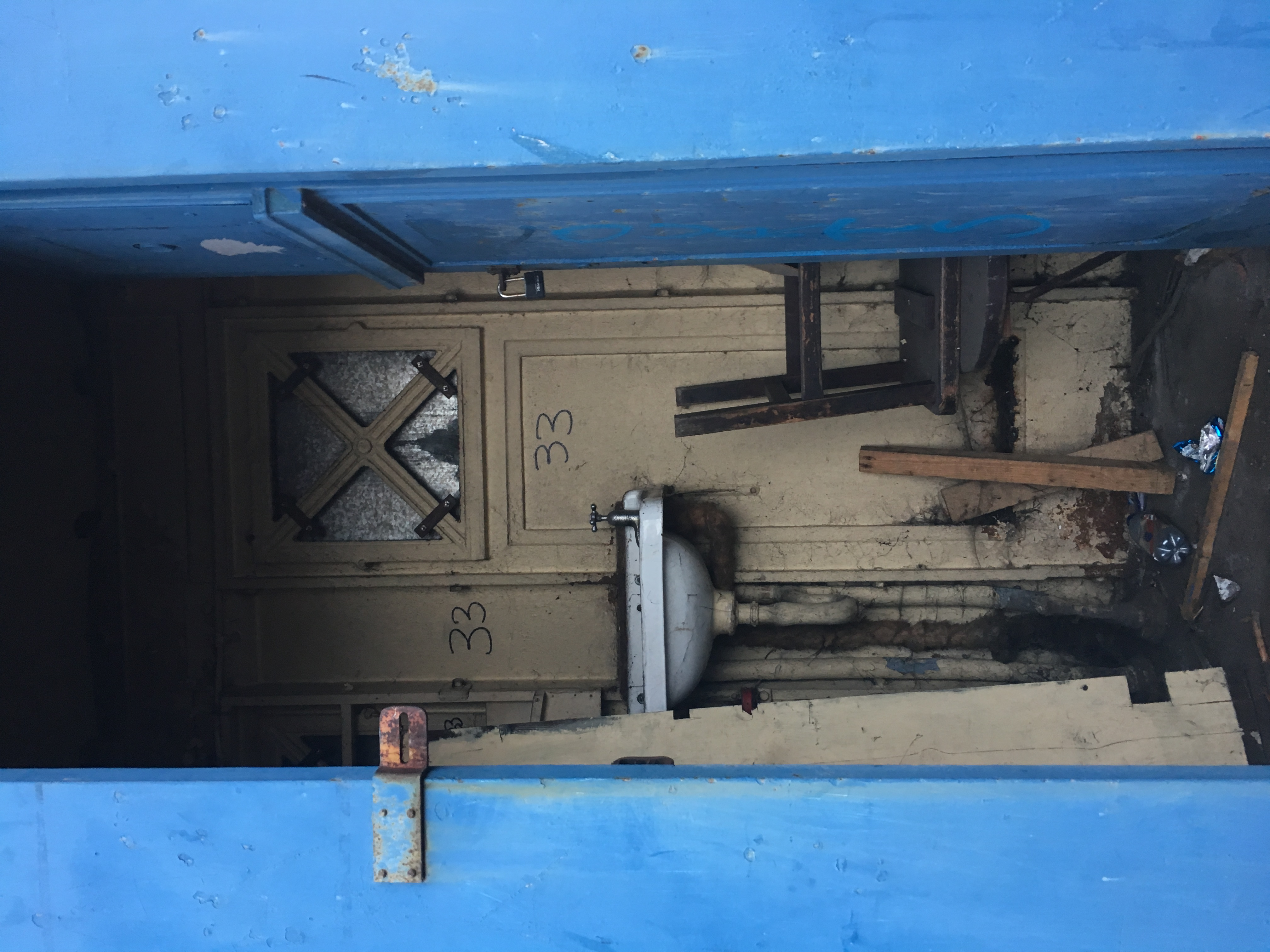 Looking in the opened door