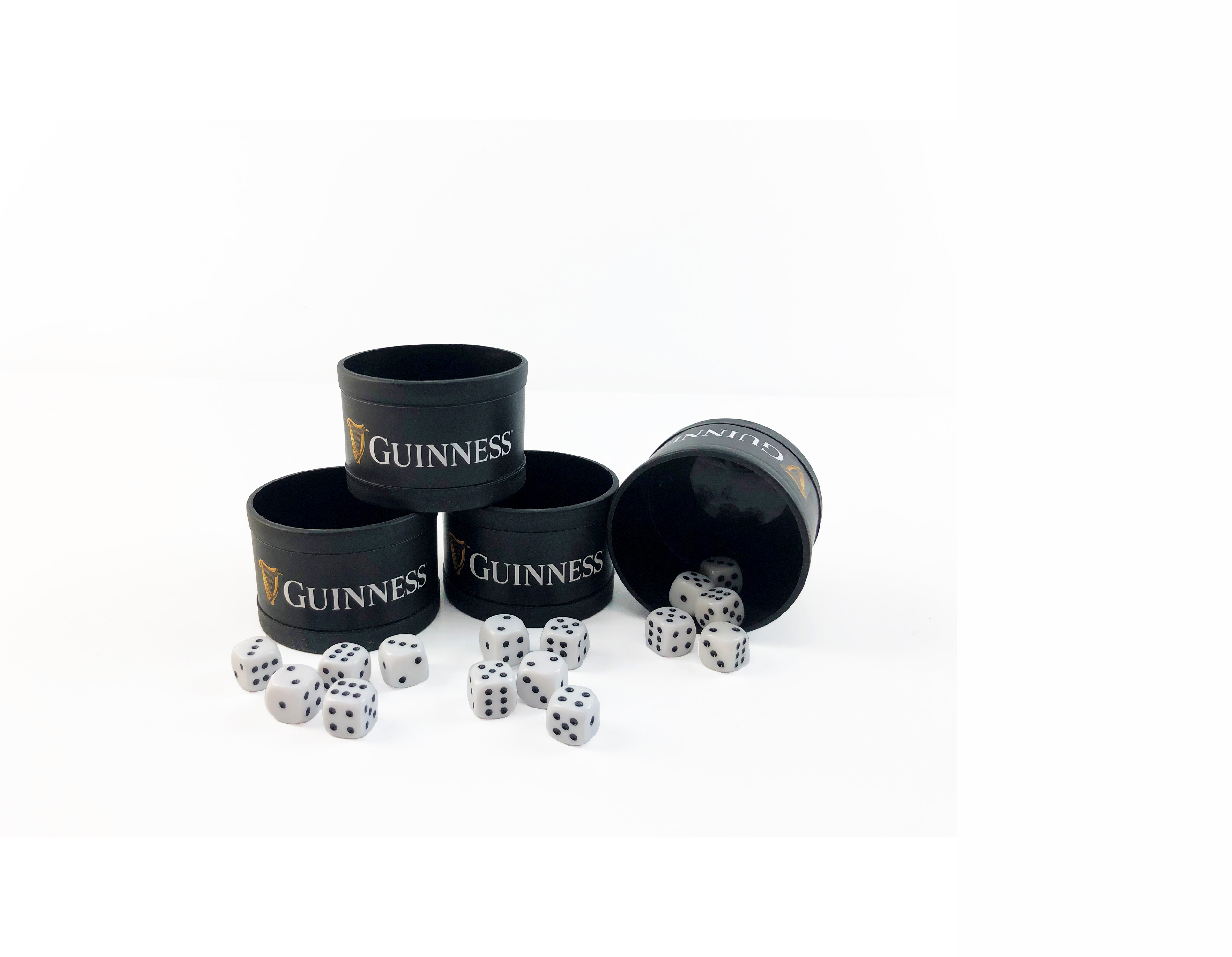 Guinness Liars Dice components