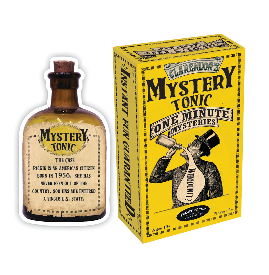 Mystery Tonic One Minute Mysteries Box and Card