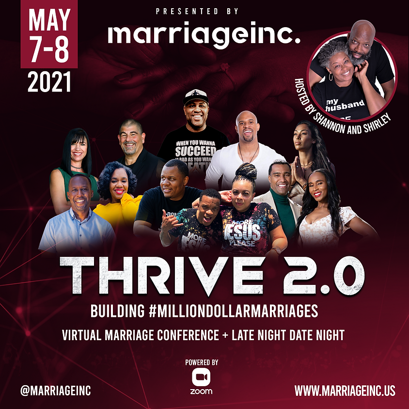 THRIVE 2.0 Virtual Marriage Enrichment Conference + Late Night Date Night