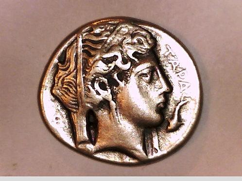 Italy, Calabria, Tarentum, Gold Stater, Persephone