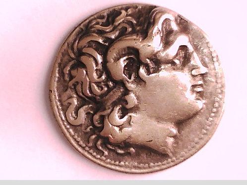 Macedon King Lysimachos Sardes Tetradrachm Coin