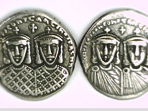 LEO IV KHAZAR & CONSTANTINE VI PLATED SOLIDUS COIN