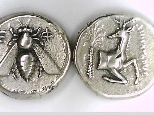 Ionia Ephesos Tetradrachm Bee/ Stag Large coin
