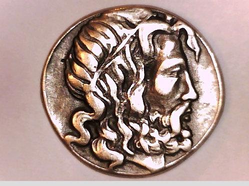 Macedon Antigonos III Tetradrachm Coin Zeus/Prow