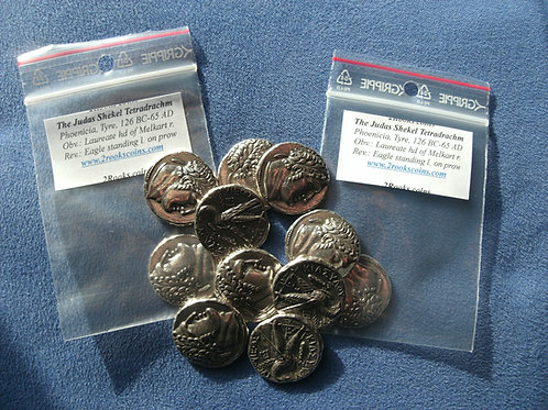Collection of the 30 Silver pieces of Judas Coins